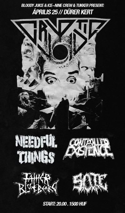 Cryptic Void, Needful Things, Controlled Existence, Sote, Father Bluebeard
