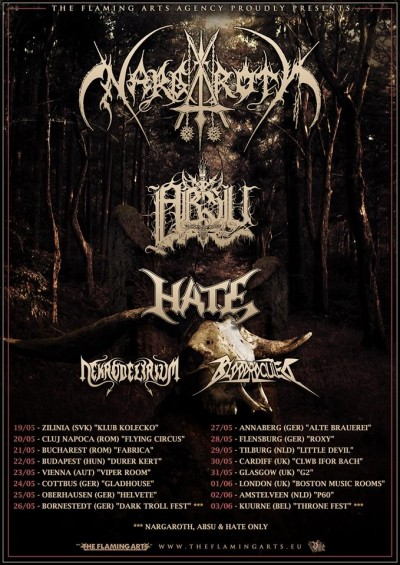 Nargaroth, Absu, Hate, Bloodrocuted, Nekrodelirium